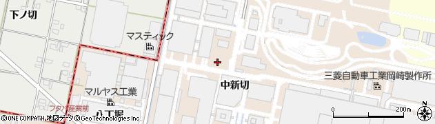 愛知県岡崎市橋目町(中新切)周辺の地図