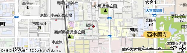 京都府京都市下京区西新屋敷上之町周辺の地図