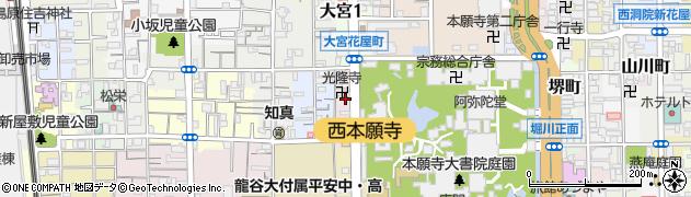 京都府京都市下京区大宮二丁目周辺の地図
