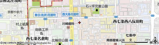 京都府京都市下京区西七条西石ケ坪町周辺の地図