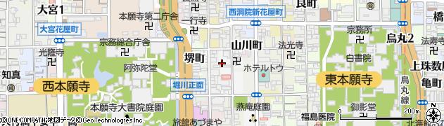 京都府京都市下京区柳町周辺の地図