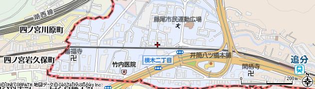 滋賀県大津市横木周辺の地図
