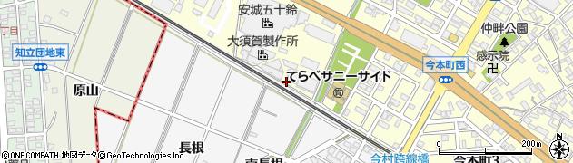 愛知県安城市今本町(長根)周辺の地図