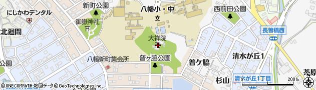 大祥院周辺の地図