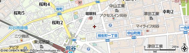 愛知県刈谷市相生町周辺の地図