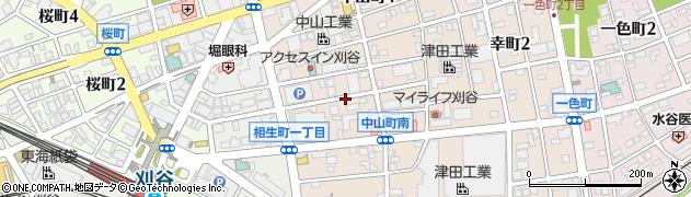 愛知県刈谷市中山町周辺の地図
