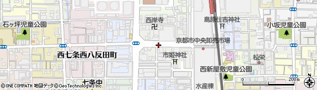 京都府京都市下京区朱雀分木町周辺の地図