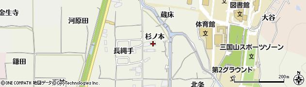 京都府亀岡市曽我部町寺(杉ノ本)周辺の地図