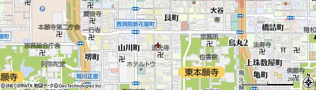 京都府京都市下京区東松屋町周辺の地図