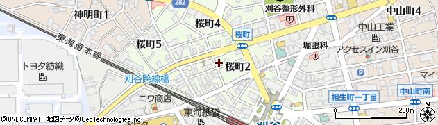 愛知県刈谷市桜町周辺の地図