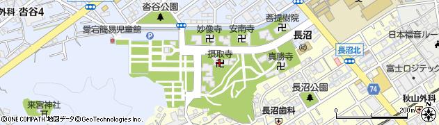 摂取寺周辺の地図