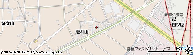愛知県安城市里町(壱斗山)周辺の地図