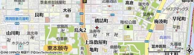 京都府京都市下京区富田町周辺の地図