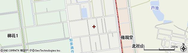 愛知県知多市社山周辺の地図