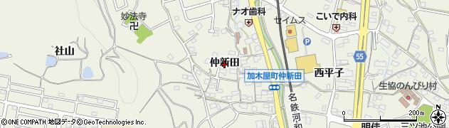 愛知県東海市加木屋町(仲新田)周辺の地図