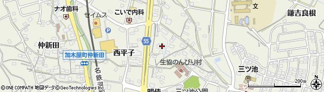愛知県東海市加木屋町周辺の地図