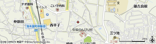 愛知県東海市加木屋町(栗見坂)周辺の地図