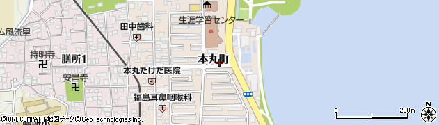 滋賀県大津市本丸町周辺の地図