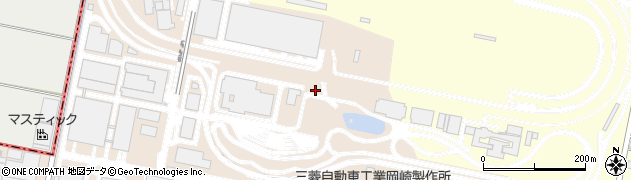 愛知県岡崎市橋目町(背戸)周辺の地図