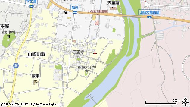 〒671-2543 兵庫県宍粟市山崎町野の地図
