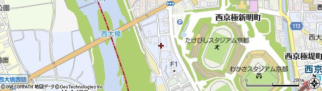 京都府京都市右京区西京極浜ノ本町周辺の地図