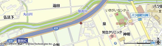 愛知県知立市八ツ田町(馬場)周辺の地図