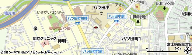 愛知県知立市八ツ田町(川畔)周辺の地図