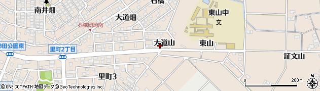愛知県安城市里町(大道山)周辺の地図