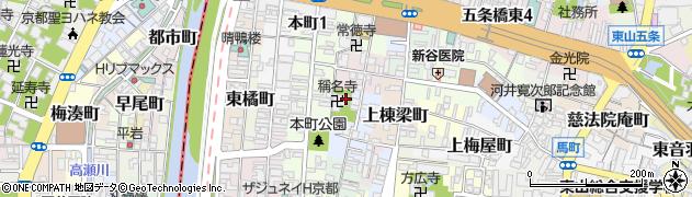京都府京都市東山区蛭子町北組周辺の地図