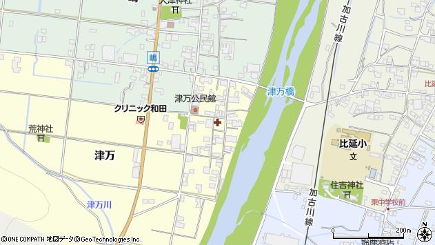 〒677-0036 兵庫県西脇市津万の地図