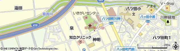 愛知県知立市八ツ田町(泉)周辺の地図