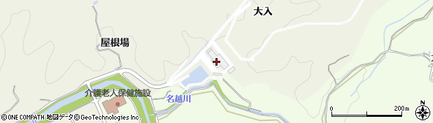 愛知県岡崎市東阿知和町大入周辺の地図
