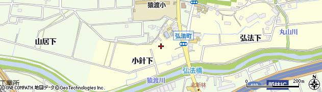 愛知県知立市弘法町(小針下)周辺の地図