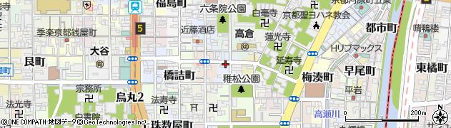 京都府京都市下京区升屋町周辺の地図