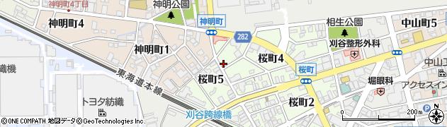 泉楽予約受付周辺の地図