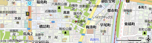 長講堂周辺の地図
