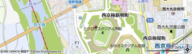 京都府京都市右京区西京極新明町周辺の地図