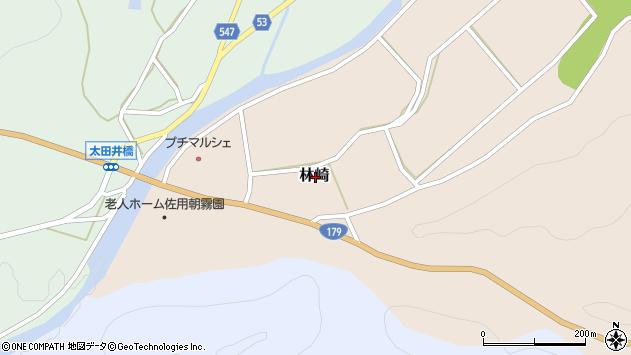 〒679-5212 兵庫県佐用郡佐用町林崎の地図