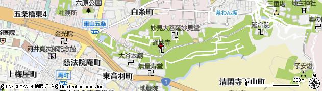 通妙寺周辺の地図