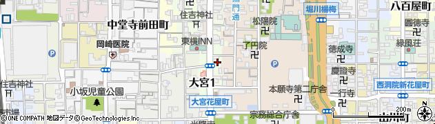 京都府京都市下京区堀之上町周辺の地図