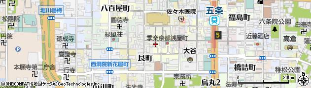 京都府京都市下京区銭屋町周辺の地図