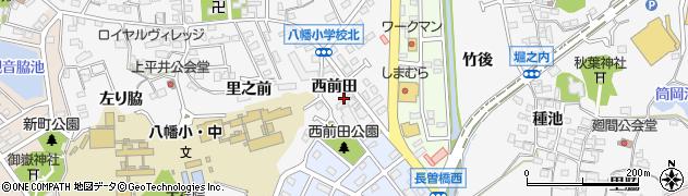 愛知県知多市八幡(西前田)周辺の地図