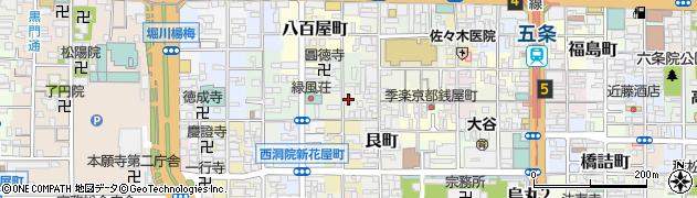 京都府京都市下京区上若宮町周辺の地図