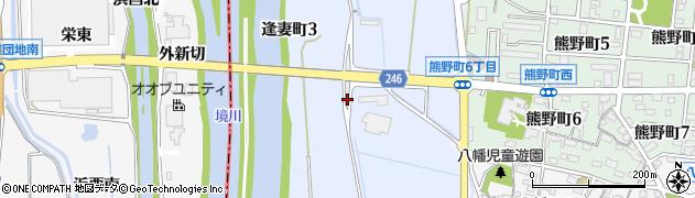 愛知県刈谷市逢妻町周辺の地図