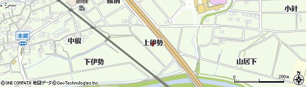 愛知県知立市上重原町(上伊勢)周辺の地図