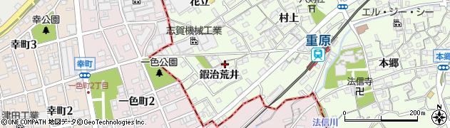 愛知県知立市上重原町(鍜治荒井)周辺の地図