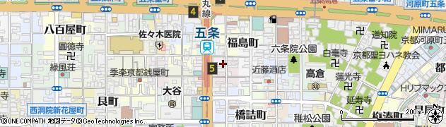 京都府京都市下京区下平野町周辺の地図