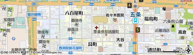 京都府京都市下京区蛭子町周辺の地図
