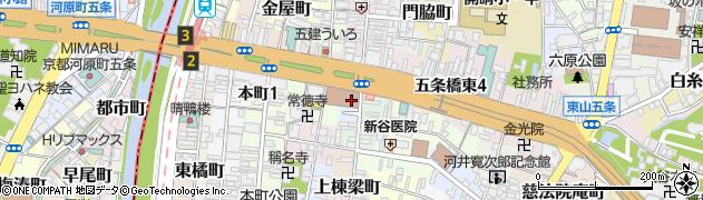 京都府京都市東山区石垣町西側周辺の地図
