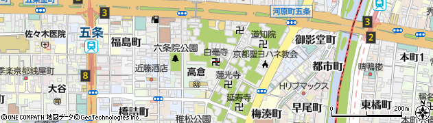 白亳寺周辺の地図
